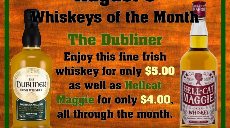 August's Whiskeys of the Month